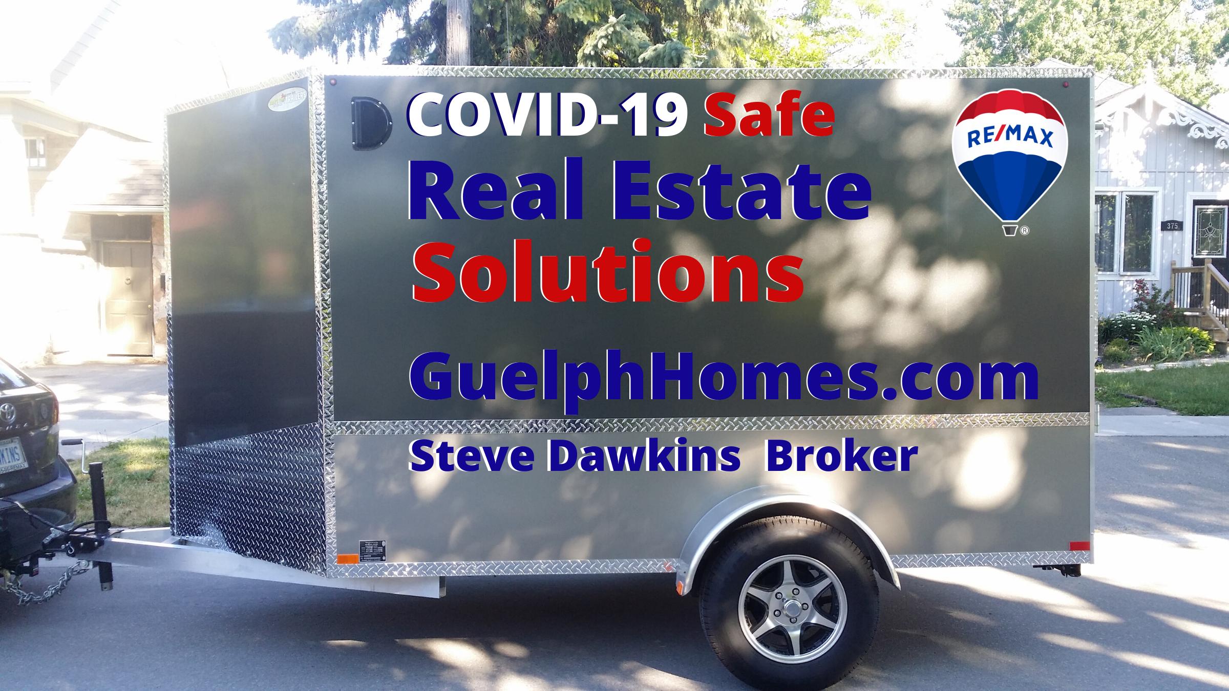 Steve Dawkins COVID-19 Safe Real Estate Solutions trailer